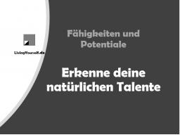 Webinar: Fähigkeiten und Potentiale - Erkenne deine natürlichen Talente