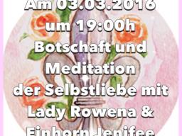 Webinar: Selbstliebe Botschaft und Meditation mit Lady Rowena und dem Einhorn Jennifee
