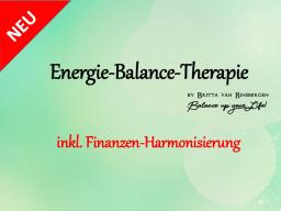 Webinar: !! SONDERANGEBOT !! Energie-Balance-Therapie-Sitzung inkl. Finanzen-Harmonisierung